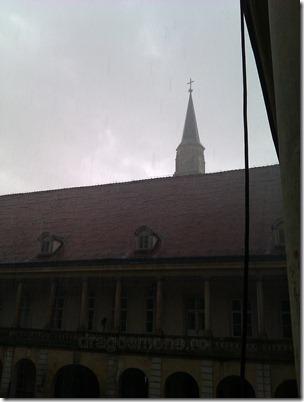 palatul banffy sub ploaie