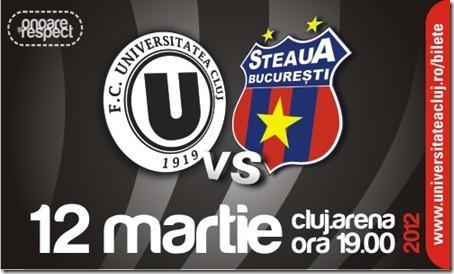 Afis U Cluj - Steaua