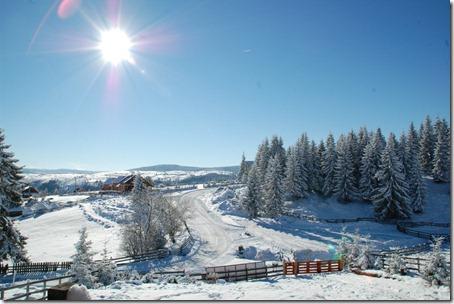 peisaj iarna cabana motilor