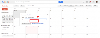 cina la carul cu bere google calendar